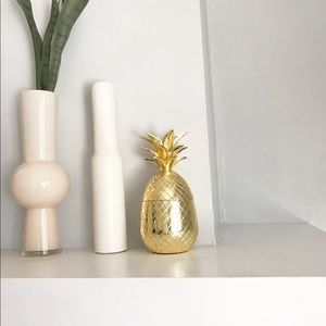 Gold Pineapple Storage Decor Piece